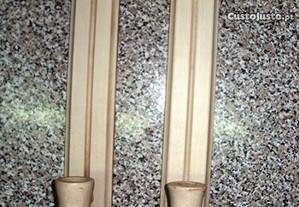 2 castiçais novos em madeira
