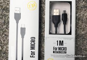 Cabo carregador Micro USB / Android - 1 metro