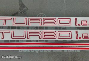 Autocolantes Fiat uno Turbo IE
