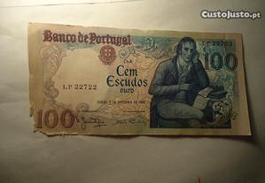 Nota 100 Escudos Rara Capicua 22722