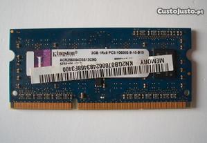 Modulo Ram Kingston ddr3 2GB 1RX8 PC3-10600S-9-10-