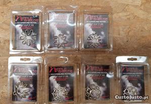 Piercings para o mamilo sem furo em prata