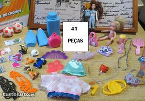 Acessórios, Bonecas Bonecos e de Desenhar 41 peças