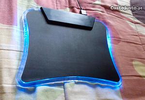tapete com luz para rato computador / pc