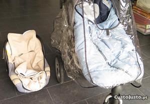 Carro+Babyco+saco inv.+assento+s.inverno+prt.chuva