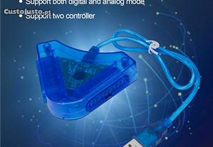 Adaptador comando PS1 e PS2 para USB PC e PS3 NOVO