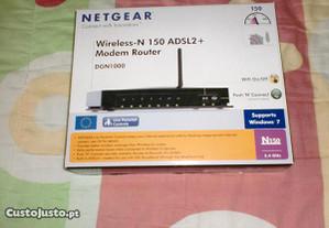 router adsl netgear computador / pc