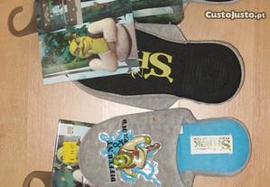 Chinelo cinza DeFonseca Shrek Nº 33/34 - NOVA