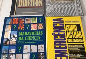 Livros, vários tipos