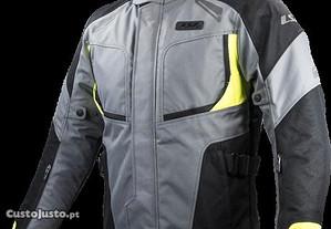 Blusão de moto LS2 Phase Cinza/Preto/Amarelo