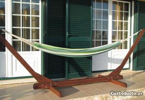Suporte cama de rede ou pano em madeira