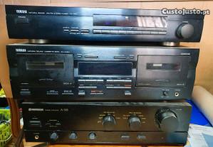 Yamaha leitor k7 / Rádio / Pionneer Amplificador