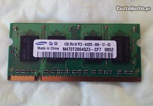 Memória RAM Samsung para portátil 1GB DDR2 800Mhz