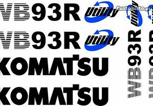 Autocolantes retroescavadora Komatsu WB93R