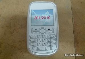 Capa em Silicone Gel Nokia Asha 201 Transparente