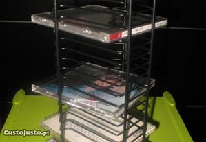 Porta cds em coluna para 20 caixas de Cd