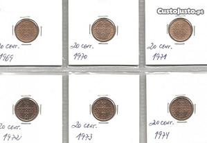 Espadim - Colecção completa 20 Centavos - M. Menor