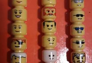 Lego cabeças minifiguras