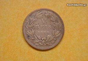 325-Luís I: V réis 1886 bronze, por 5,00