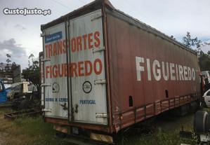 Caixa cortinas tir camião atrelado