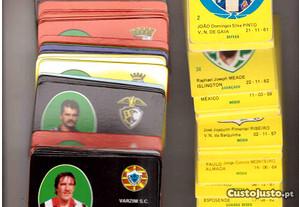 Lote de calendários sobre futebol do ano de 1987.