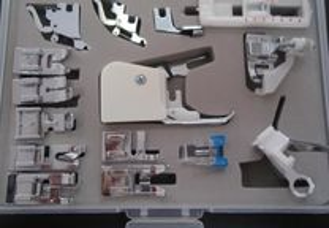 Kit com 15 calcadores, para máquina de costura