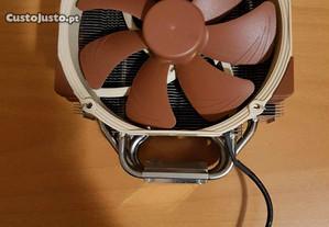 Cooler com ventoinha 140 mm noctua - computador pc