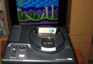 Mega Drive 1 + RF + Jogo + Comando + PSU