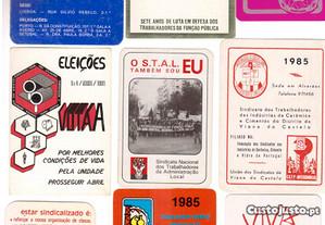 Lote de 50 calendários sobre sindicatos