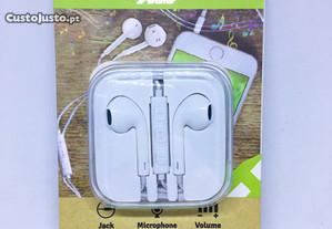 Auriculares com microfone / Earphones 3.5mm