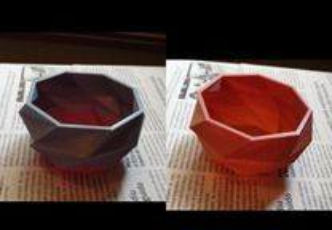 Base colorida para vaso plantas ervas aromatica