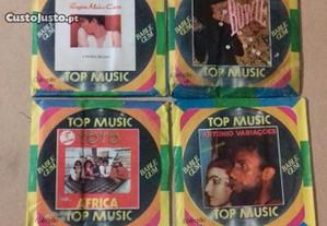 Top Músic 6 carteiras fechadas c/chiclete anos 80