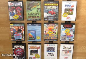 Mega Drive 28J: Aws, Lotus, NHL, Pac, PGA, Rolo+