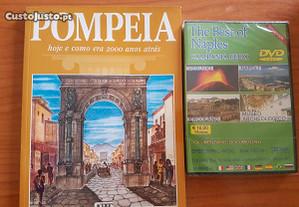 Pompeia hoje e como era 2000 anos atras livro/dvd