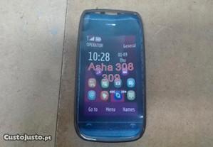 Capa em Silicone Gel Nokia Asha 308 / 309 Preta