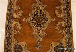 Tapete Persa Antigo de Seda Manual BAIXA DE PREÇO