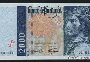 Espadim - Nota de 2.000$00 de 1997 - Bela a Q.Nova