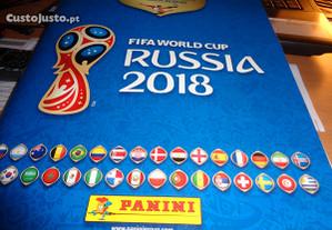 Caderneta Russia 2018 Futebol Cromos Colados