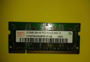 Memorias RAM antigas (vários modelos)