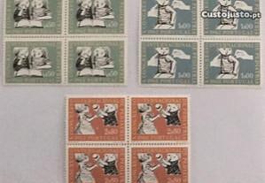 3 quadras de selos novos X. Congresso Internacional de Pediatria - 1962