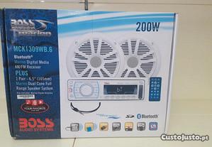 Kit de Rádio e Colunas Boss Marine MCK1309WB.6