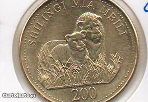 Tanzânia - 200 Schillingi 2008 - soberba
