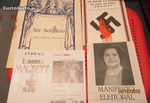Folhetos antigos de peças de teatro, concerto JMB