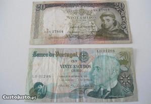 Notas de 20 e 50 escudos