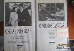 2 VHS - O Pátio das cantigas e capas negras