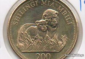Tanzânia - 200 Schillingi 1998 - soberba