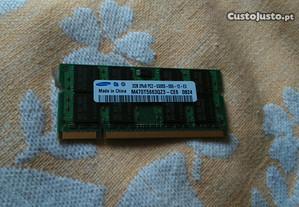 Memória RAM para portátil, 2 Gigas Samsung