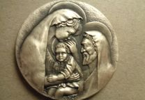 Medalha do Natal Prata Muito Linda Oferta Envio