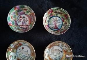 4 pequenas tacinhas chinesas - excelente estado