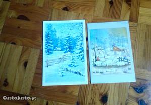 Colecção de 10 postais de Inverno